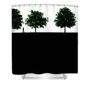 The Walk Shower Curtain