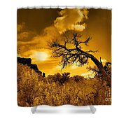 The Weight Of The Clouds In Sepia Shower Curtain