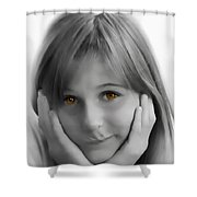 This Is My Thinking Face Shower Curtain