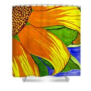 This Is No Subdued Sunflower Shower Curtain