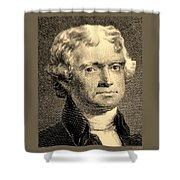 Thomas Jefferson In Sepia Shower Curtain