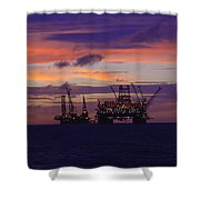 Thunder Horse Before The Storm Shower Curtain