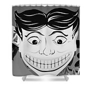Tillie The Clown Of Coney Island In Black And White Shower Curtain