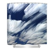 Time-lapse Clouds Shower Curtain