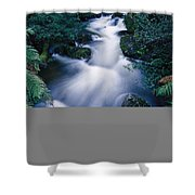Time Lapse Of Taggerty River Flow Shower Curtain