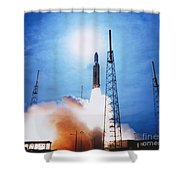 Titan Iv Rocket Shower Curtain