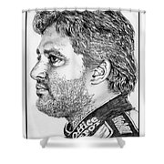 Tony Stewart In 2011 Shower Curtain by J McCombie