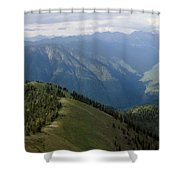 Top Of The World View Shower Curtain