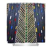 Traffic Shower Curtain