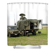 Transmission Troops Of The Belgian Army Shower Curtain