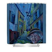 Travel Notebook. Old Nice Shower Curtain
