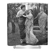 Troilus And Cressida Shower Curtain