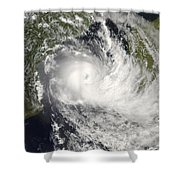 Tropical Cyclone Jokwe Shower Curtain