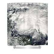 Tropical Storm Ida In The Caribbean Sea Shower Curtain