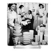 Tupperware Party, 1950s Shower Curtain