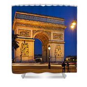 Twilight At Arc De Triomphe Shower Curtain