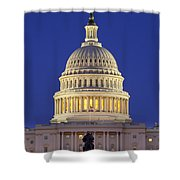 Twilight Over Us Capitol Shower Curtain