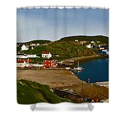 Two Good Arms Newfoundland Shower Curtain