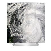 Typhoon Man-yi Shower Curtain