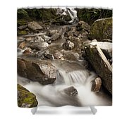 Unnamed Waterfall Along South Tongass Shower Curtain