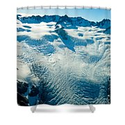 Upper Level Of Fox Glacier In New Zealand Shower Curtain