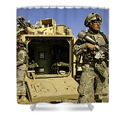 U.s. Army Soldiers Provide Security Shower Curtain