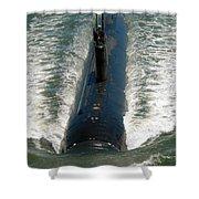 U.s. Navy Sailors Man A Topside Watch Shower Curtain