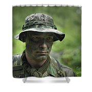 U.s. Special Forces Soldier Shower Curtain