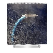 Uss Green Bay Transits The Indian Ocean Shower Curtain
