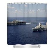 Uss Pearl Harbor, Uss Makin Island Shower Curtain