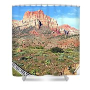 Utah Cactus Field Shower Curtain