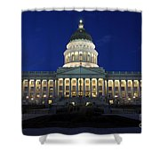 Utah Capitol Building At Twilight Shower Curtain