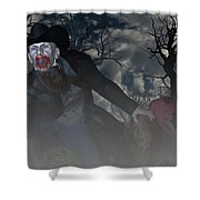 Vampire Cowboy Shower Curtain