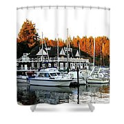 Vancouver Rowing Club Shower Curtain