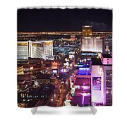 Vegas Strip At Night Shower Curtain