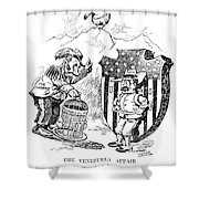 Venezuela Dispute, 1902 Shower Curtain
