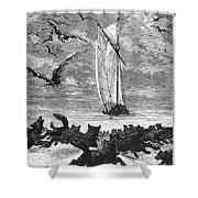 Verne: Around The World Shower Curtain