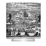 Versailles: Gardens, 1685 Shower Curtain