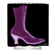 Victorian Ladies Boot Shower Curtain