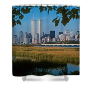 View From Liberty State Park Shower Curtain