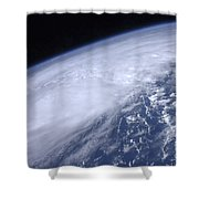 View From Space Of Hurricane Irene Shower Curtain