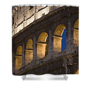 View Of The Roman Coliseum In Rome Shower Curtain