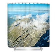 View On To Fox Glacier In South New Zealand Shower Curtain