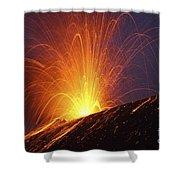 Vulcanian Eruption Of Anak Krakatau Shower Curtain