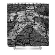 Walking Man In Black And White Shower Curtain