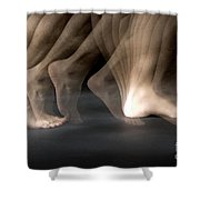 Walking Shower Curtain by Ted Kinsman