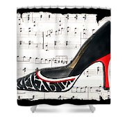 Waltzing Pumps Shower Curtain