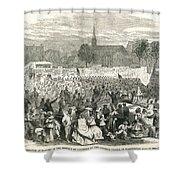 Washington: Abolition, 1866 Shower Curtain