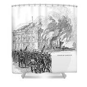 Washington Burning, 1814 Shower Curtain
