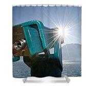 Watching The Sun Shower Curtain